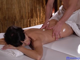 Deep penetration massage coitus for a slim joyless with perfect ass