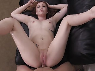 Redhead amateur Rowan missionary pounded on the casting couch