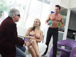 Sarah Vandella gets her pussy filled with cock and mouth with cum