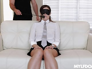 submissive girl Helena Price wants to be punished by her friend
