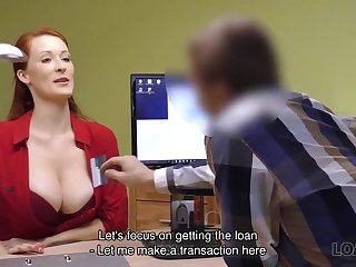 Tricky Agent screws large-bosomed redhead Isabella Lui