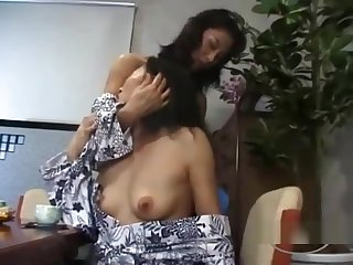 2 Mature Women Sucking Nipples Kissing Patting At The Dresser Up The Dining Roo