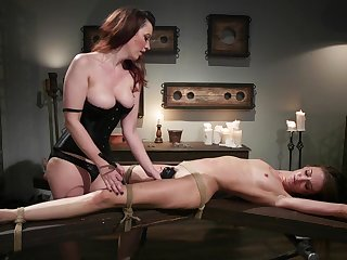 Cherry Frayed and Zoe Sparx use a strapon and a dildo for a fairy fuck