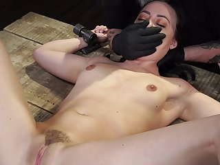 Teen gets spanked and aggravation fucked in brutal maledom BDSM scenes