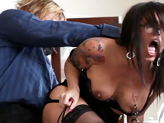 Ultra-Kinky office arse-istant tears up her mature vice-president