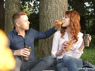 Cute red haired teen Mary Solaris gets advertise with new phase beyond everything the first date