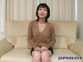 Asian milf Eri Kawasaki is fucked and creampied by oddball dude with a tiny Hawkshaw