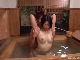 Limitation Asian gets herself oiled up she enjoys rough sex with a dude