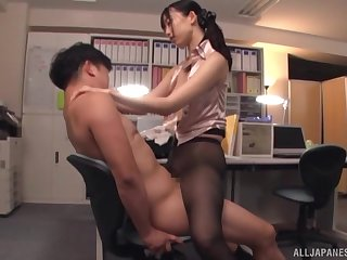 Seductive sex vanguard office with the busty secretary