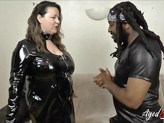 Busty mature picked by horny black guy and fucked hard interracial akin to
