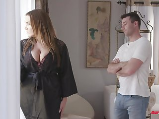 Awesome super jumbo boobed bitch Natasha Nice treats alms-man around a titjob