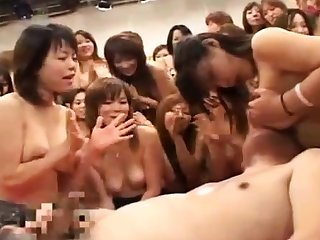 Hardcore group sex party connected with a hellacious asian escort